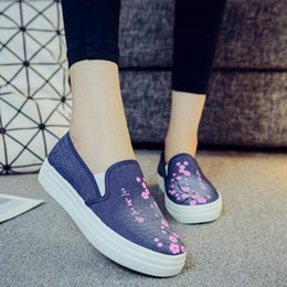 $enCountryForm.capitalKeyWord Australia - Women's flat casual shoes 2019 spring and autumn new embroidered one pedal increased canvas ladies shoes Korean version