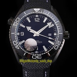 Watches Nylon Australia - Planet Ocean 600m Co-Axial 215.92.40.20.01.001 Ceramics Bezel Black Dial Miyota Automatic Mens Watches 316L Steel Case Nylon Strap