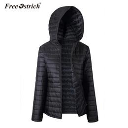 $enCountryForm.capitalKeyWord Australia - Free Ostrich Jacket Women Autumn Winter Zipper 2019 Black Hooded Warm Coats Long Sleeve Solid Parkas Coat L0630