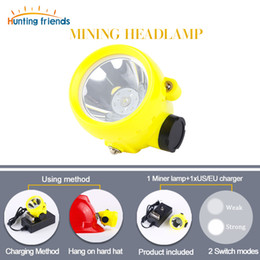 Discount mining hunting lights 50pcs lot Mining Headlamp Explosion Rroof Mining Light Waterproof Mining Cap Lamp Rechargeable Coal Mine Lamp Hunting He