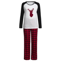 $enCountryForm.capitalKeyWord UK - Women Pajama Sets 2018 Autumn winter Women Mommy Plaid Blouse Pants Family Pajamas Sleepwear Matching Christmas Set