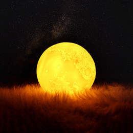 $enCountryForm.capitalKeyWord NZ - New 3D Printed USB Charging Moon Lamp Colorful LED Night Light Home Decoration Excellent Gift For Appointment Date