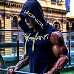 $enCountryForm.capitalKeyWord Australia - 2018 Men's Cotton Hooded Men Tank Top Men s Fitness Clothing Bodybuilding Vest Summer Mens Fashion Sleeveless Casual Vest Y19042204