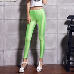 $enCountryForm.capitalKeyWord Australia - New Fashion Hot Selling 2018 Women Solid Color Fluorescent Shiny Pant Leggings Large Size Spandex Shinny Elasticity Casual Trousers For Girl