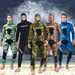 $enCountryForm.capitalKeyWord Australia - 2019 New Hot Sale 3.5mm Neoprene Wetsuit Full Body Diving Wetsuit Coldproof Surfing Suit 2 Piece Spearfishing Wetsuit