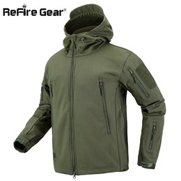 $enCountryForm.capitalKeyWord Australia - ReFire Gear Camouflage Military Jacket Men Waterproof Soft Shell Tactical Jacket US Army Clothing Winter Fleece Coat WindbreakerMX190828