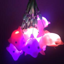 $enCountryForm.capitalKeyWord Australia - Creative Colorful Flashing Lanyard dolphin Whale Night light LED toys 3pcs Button electronics
