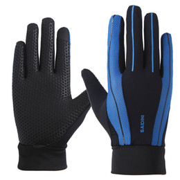 Free Finger Bikes Australia - Outdoor sports riding full finger gloves men and women summer sunscreen thin section breathable driving bike silicone anti-slip touch screen