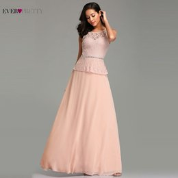$enCountryForm.capitalKeyWord Australia - Blush Pink Prom Dresses Long 2019 Pretty Elegant A-line Sleeveless Lace Beading Wedding Party Gowns T190606