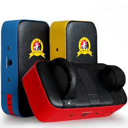 $enCountryForm.capitalKeyWord Australia - Zooboo Kick Boxing Pad Punching Bag Foot Target Mitt Mma Sparring Muay Thai Boxing Training Gear Punching 3 Colors T190724
