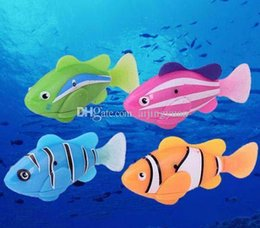 $enCountryForm.capitalKeyWord Australia - Robo Fish Water Activated Battery Powered Robofish kids Clownfish Bath Toys children Robotic Fish Electronic pet drop shipping