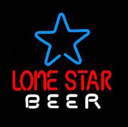"neon sign star NZ - Lone Star Texas Beer Neon Sign Handmade Customized Real Glass Tube Bar KTV Club Pub Store Hotel Advertise Display Neon Signs 16""X16"""