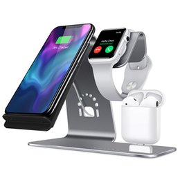 Ihave power bank online shopping - 3in Fast Wireless Charger Bracket For Iphone Xs apple Watch airpods Wireless Charging For Iphone Xsmas xr plus Samsung S9 S8 T190704