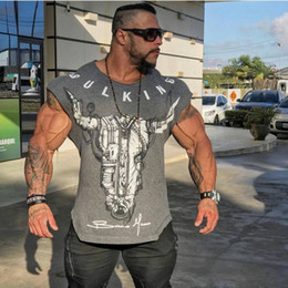 Wholesale bulk tee shirts for sale – custom BULKING Brand Men cotton t shirts fashion Casual gyms Fitness workout Short sleeves tees summer new male tops clothing