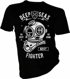 Kids Navy Shirts Australia - Deep Seas Fighter, Diving, Diver, Swimming, Navy Adult & Kids T-Shirt Funny free shipping Unisex Casual