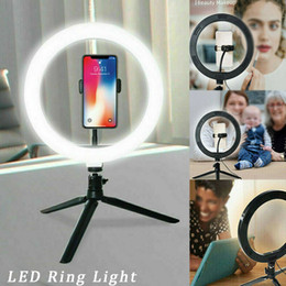 Ring Flash Fill Light with Stand Tripod Table Top Dimmable 10 Inch LED Ring Light for Live Stream Makeup Youtube Video on Sale