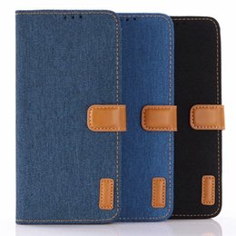 Discount magnetic cloth - Jean Canvas Leather Wallet Case For Huawei P30 Pro Galaxy S10 Lite Plus J4 Core Cowboy Hybrid Hit Color Cloth Magnetic F