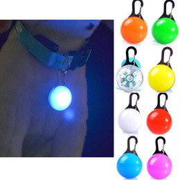 wholesale cat dog collar pendants Australia - 2PCS LED pet Dog glowing pendant necklace Safety puppy Cat Night Light Flashing Collar Pet Luminous Bright Glowing in Dark