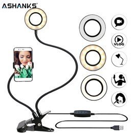 $enCountryForm.capitalKeyWord NZ - Photo Studio Selfie LED Ring Light with Cell Phone Mobile Holder for Youtube Live Stream Makeup Camera Lamp for iPhone Android