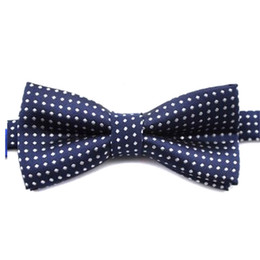 cotton bow ties for boys UK - 2019 Fashion Formal Cotton Bow Tie Classical Boys Polka Dot Tie For Kids Colorful Butterfly Wedding Party Pet Bowtie Tuxedo Ties