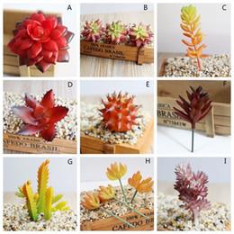 Lotus Flower Home Decor NZ - Beautiful Artificial Succulents Plants Fake Succulent Bonsai Plastic Succulent Flower Land Lotus For Home Office Decor C19041302