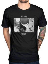 Wholesale Official Nirvana Bleach Album T Shirt Rock Band Kurt Cobain Nevermind In UteroFunny Unisex Casual Tshirt
