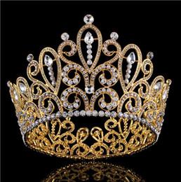 $enCountryForm.capitalKeyWord Australia - European-style air bride headdress, water diamond, gold crown, round crown studio
