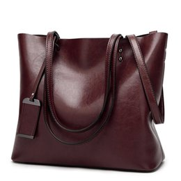 a918fe3c1 LA MAXZA Bag for Women Oil Wax Leather Handbags Luxury Lady Bags With Purse  Pocket Women Messenger Bag Big Tote Sac Bolsos Mujer #263887