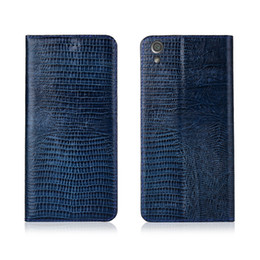 Sony Xperia Ultra Case Australia - Lizard Pattern Genuine Leather Case With Card Slot For Sony Xperia XA1 Ultra Flip Phone Bag For Sony Xperia XA1 Ultra Flip Case Kickstand