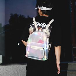 $enCountryForm.capitalKeyWord Australia - candy bling Glitter Jelly Women's backpack new arrival Lantern LED Light Transparent Backpack bag woman famous luxury