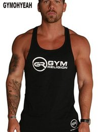 $enCountryForm.capitalKeyWord Australia - GYMOHYEAH Fashion brand Men Tank Top GYMS Thin Strap Fitness Men Body Bodybuilding Singlets Suit Cotton waistcoat #271594