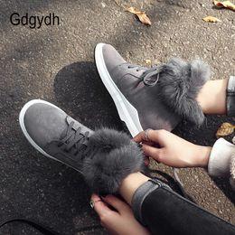 $enCountryForm.capitalKeyWord Australia - Gdgydh Height Increasing Ladies Snow Boots Black Real Fur Winter Boots Plus Size 43 Women Comfortable Warm Shoes 2018 Winter