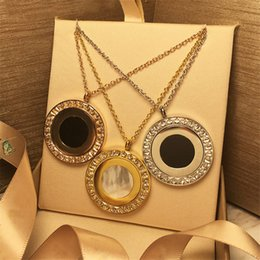 $enCountryForm.capitalKeyWord NZ - Luxury Rotate Circle Pendant Necklaces Fashion Design Link Chain Necklaces Women Golden Silver Rose Fine Jewelry Lover Gift