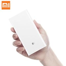 Discount mi cable - Original Xiaomi Power Bank 20000mAh 2C Portable Charger Support QC3.0 Dual USB Mi External Battery Bank 20000 for Mobile
