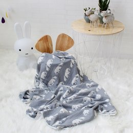 $enCountryForm.capitalKeyWord NZ - Double Layer Baby Blanket Newborns Muslin Swaddle Cartoon Wrap Super Soft Bamboo Cotton Bath Towel for Kids Photography PropsMX190910