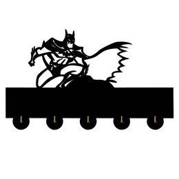 $enCountryForm.capitalKeyWord Australia - 1Piece Batman Door Hook Wall Docor Rock Music Clothes Coat Hat Hanger Kitchen Bathroom Towel Hooks Key Holder Gift For Batman
