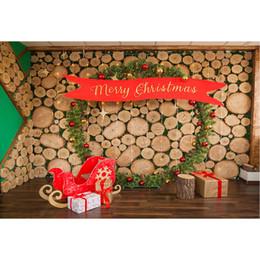 $enCountryForm.capitalKeyWord Australia - Merry Christmas Backdrop for Newborn Photography Printed Timbers Wall Green Pine Garland Balls Kids Baby Shower Photo Background