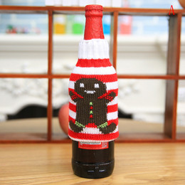 $enCountryForm.capitalKeyWord Australia - Christmas Deer Knitting Bags Beer Wine Bottle Sets Stockings Candy Gift Christmas Decoration Supplies Xmas Socks Wholesale