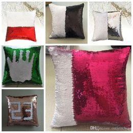 $enCountryForm.capitalKeyWord Australia - New Two-tone sequined pillow color-changing pillow mermaid Pillowcase 40*40cm Throw Cushion Living Room Bedroom Sofa Decor Cover Lumbar Case