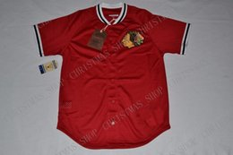 Ingrosso Mitchell Ness personalizzato CHICAGO BLACKHAWKS Mesh Button Front JERSEY Jersey cucito XS-5XL