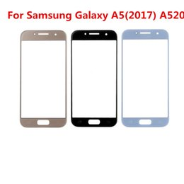 samsung galaxy a5 touch screen 2019 - 20PCS For Samsung Galaxy A5 2017 A520 A520F outdoor glass   front front lens cover screen (without digitizer) for Galaxy