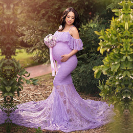 shooting clothing Australia - Lace Maternity Photography Props Dresses For Pregnant Women Clothes Maternity Dresses For Photo Shoot Pregnancy DressesMX190912