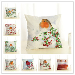 lighting trees decorative home Australia - 2020 New Year Christmas Decorations For Home Christmas Ornaments Navidad Natal Frozen Decorative bird Cushion Cover