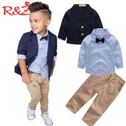 $enCountryForm.capitalKeyWord Australia - R&z Children's Suit 2019 Spring And Autumn New Boy Gentleman Suit Suit Jacket Shirt Pants 3 Piece Set To Send Bow Tie J190717