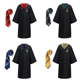 Wholesale Hot children clothes cosplay robe costume Harry Potter hooded Robes with ties Child Adult Unisex Costume kids clothing Magic Robe
