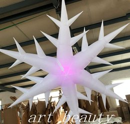 Inflatable For Event Party Decoration Australia - new hot sale led lighting hanging inflatable snowflake balloon for Christmas event party decoration