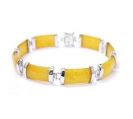 "$enCountryForm.capitalKeyWord UK - New good yellow chain GP link bracelet 7.5 ""Free Shipping jade"