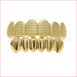 $enCountryForm.capitalKeyWord Canada - Snaps teethtop Square Ribbed Gold-plated Hip Hop Teeth Decorative Braces Dentalsleeve Cover Snaps Teethtop