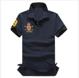 Cotton Undershirts Australia - wholesale 2019 High quality men's brand Cotton polos men polos retro Leisure golf tennis undershirt   men's polos