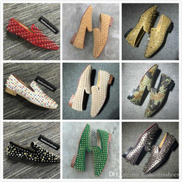 Wholesale men day socks for sale – custom size red bottoms loafer des chaussures gz men dress shoes vintage Casual Party Wedding Shoes cc spikes oversized loafers gg kanye sock